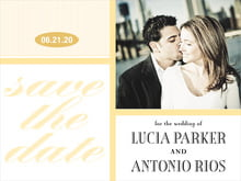 custom save-the-date cards - sunburst - metropolitan (set of 10)
