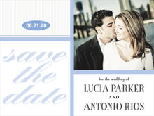 custom save-the-date cards - periwinkle - metropolitan (set of 10)