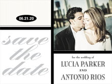 custom save-the-date cards - tuxedo - metropolitan (set of 10)