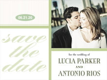 custom save-the-date cards - green tea - metropolitan (set of 10)
