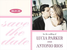 custom save-the-date cards - pale pink - metropolitan (set of 10)