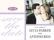 custom save-the-date cards - lilac - metropolitan (set of 10)
