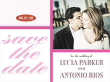 custom save-the-date cards - bright pink - metropolitan (set of 10)