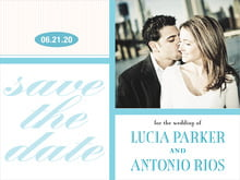 custom save-the-date cards - bahama blue - metropolitan (set of 10)