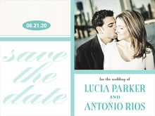custom save-the-date cards - aruba - metropolitan (set of 10)