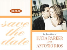 custom save-the-date cards - tangerine - metropolitan (set of 10)