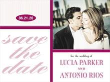 custom save-the-date cards - burgundy - metropolitan (set of 10)