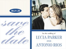 custom save-the-date cards - deep blue - metropolitan (set of 10)