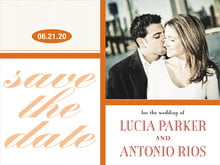 custom save-the-date cards - spice - metropolitan (set of 10)