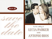 custom save-the-date cards - chocolate - metropolitan (set of 10)