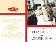 custom save-the-date cards - cherry - metropolitan (set of 10)