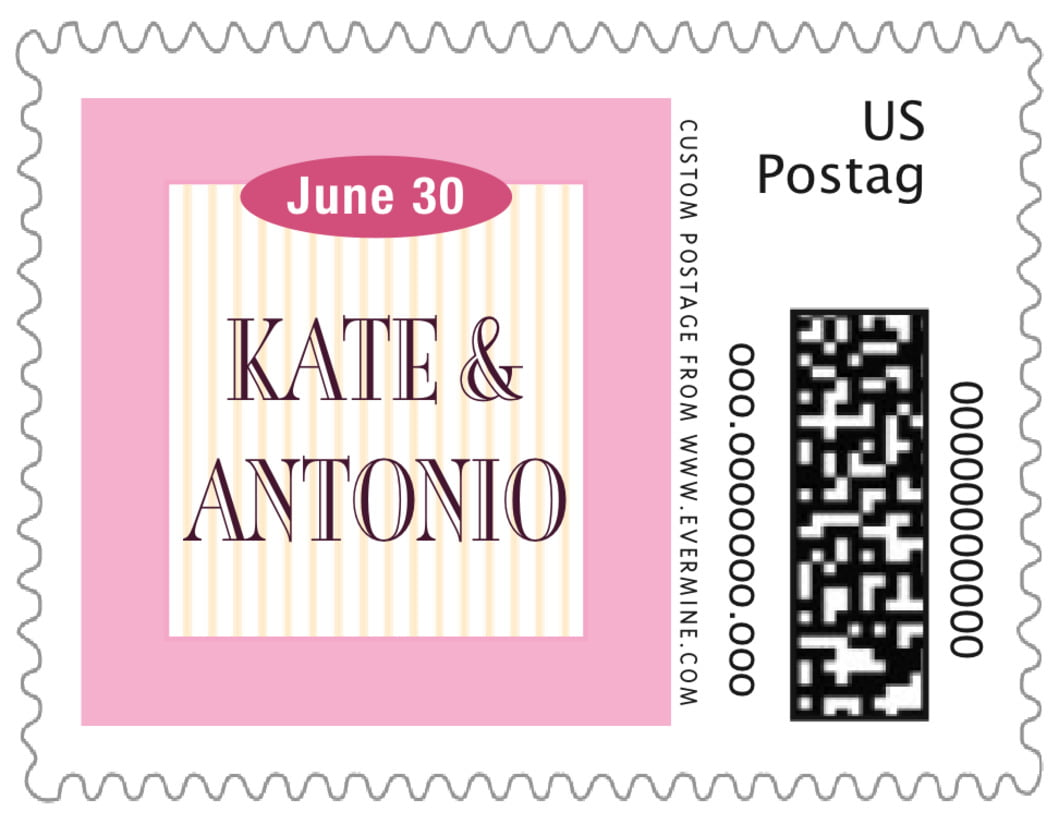small custom postage stamps - pale pink - metropolitan (set of 20)
