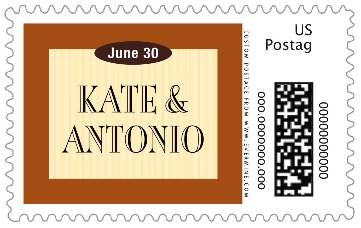 custom large postage stamps - saddle & ivory - metropolitan (set of 20)