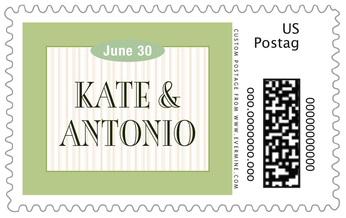 custom large postage stamps - green tea - metropolitan (set of 20)