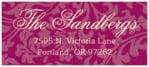 Magnolia designer address labels