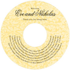 Magnolia wedding CD/DVD labels