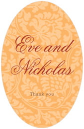 Magnolia tall oval labels