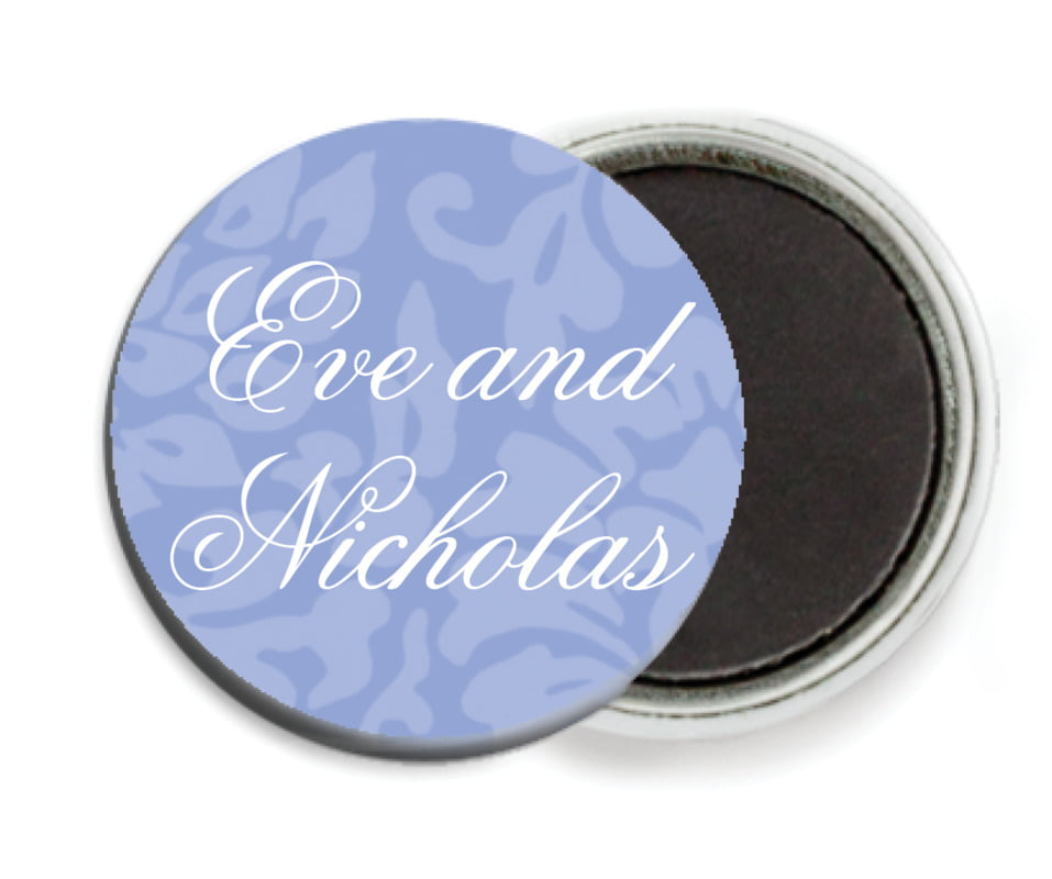 custom button magnets - periwinkle - magnolia (set of 6)
