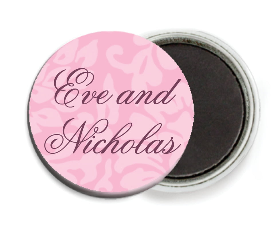 custom button magnets - pale pink - magnolia (set of 6)