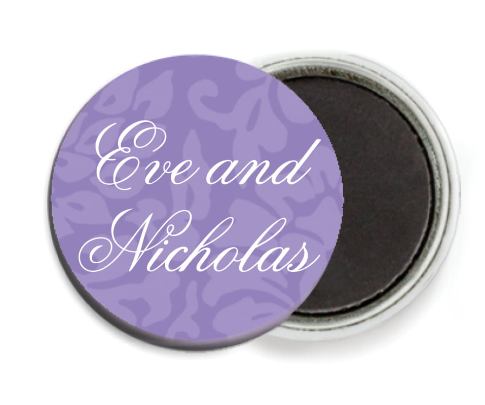 custom button magnets - lilac - magnolia (set of 6)