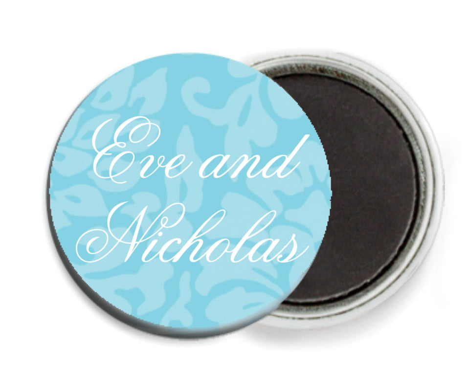 custom button magnets - bahama blue - magnolia (set of 6)