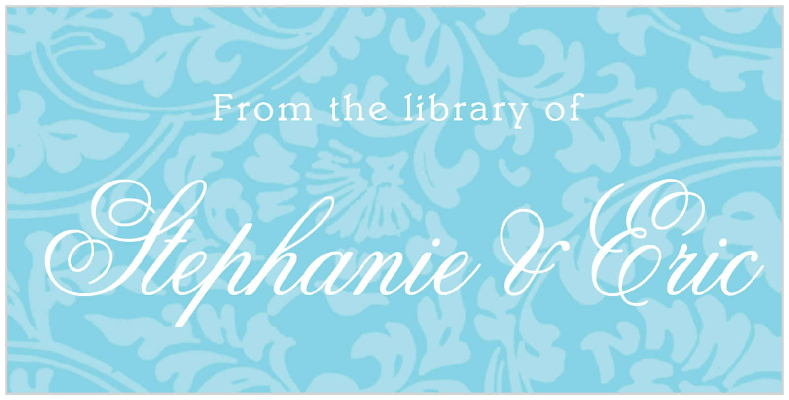 bookplates for everyone - bahama blue - magnolia (set of 24)