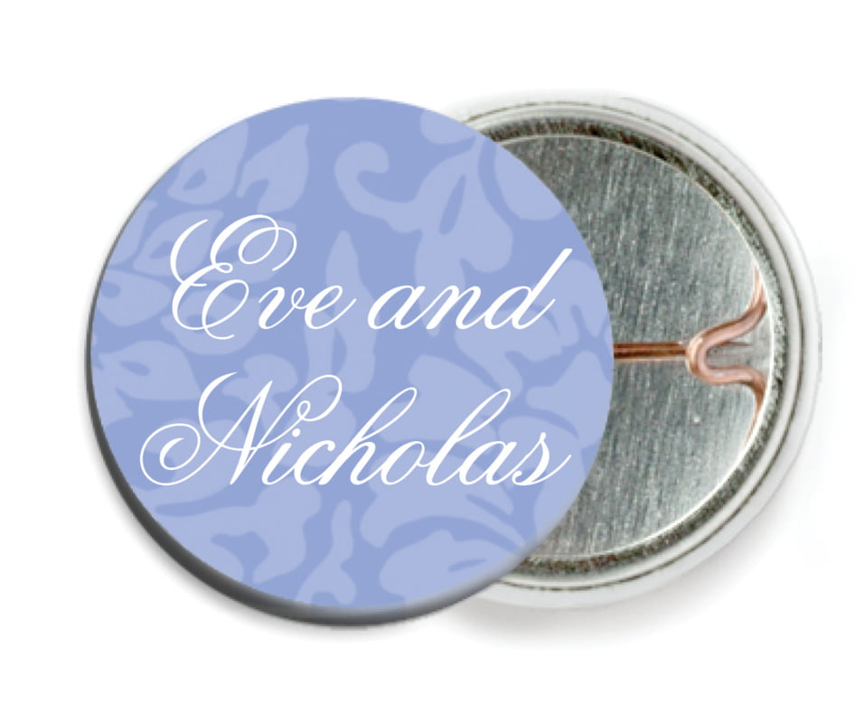 custom pin back buttons - periwinkle - magnolia (set of 6)