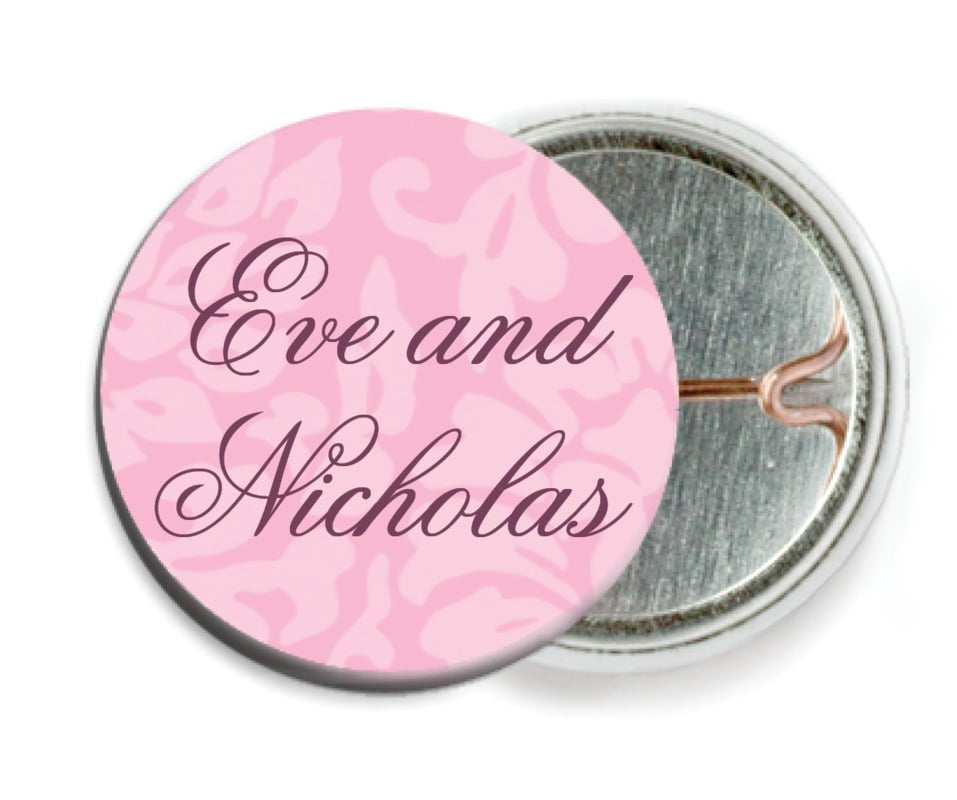 custom pin back buttons - pale pink - magnolia (set of 6)