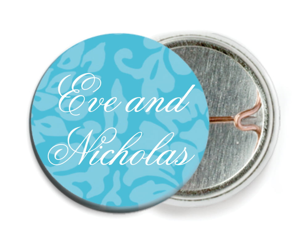 custom pin back buttons - sky - magnolia (set of 6)