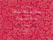 custom save-the-date cards - deep red - magnolia (set of 10)