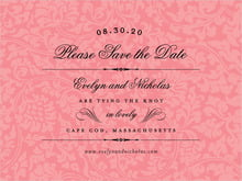 custom save-the-date cards - grapefruit - magnolia (set of 10)