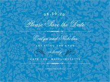 custom save-the-date cards - blue - magnolia (set of 10)
