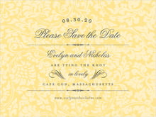 custom save-the-date cards - sunburst - magnolia (set of 10)