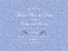 custom save-the-date cards - periwinkle - magnolia (set of 10)