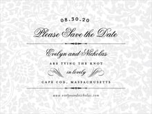 custom save-the-date cards - tuxedo - magnolia (set of 10)