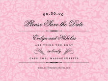 custom save-the-date cards - pale pink - magnolia (set of 10)