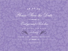 custom save-the-date cards - lilac - magnolia (set of 10)