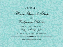 custom save-the-date cards - aruba - magnolia (set of 10)