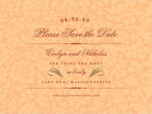 custom save-the-date cards - tangerine - magnolia (set of 10)