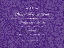 custom save-the-date cards - purple - magnolia (set of 10)