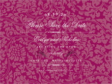 custom save-the-date cards - burgundy - magnolia (set of 10)