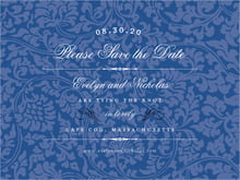 custom save-the-date cards - deep blue - magnolia (set of 10)