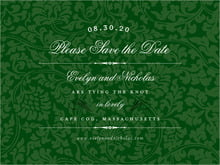 custom save-the-date cards - deep green - magnolia (set of 10)