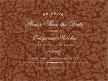 custom save-the-date cards - chocolate - magnolia (set of 10)