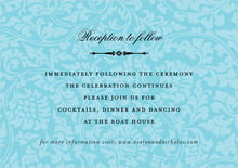 custom enclosure cards - bahama blue - magnolia (set of 10)