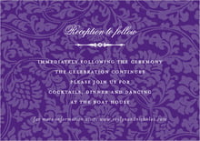 custom enclosure cards - purple - magnolia (set of 10)
