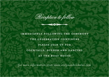custom enclosure cards - deep green - magnolia (set of 10)