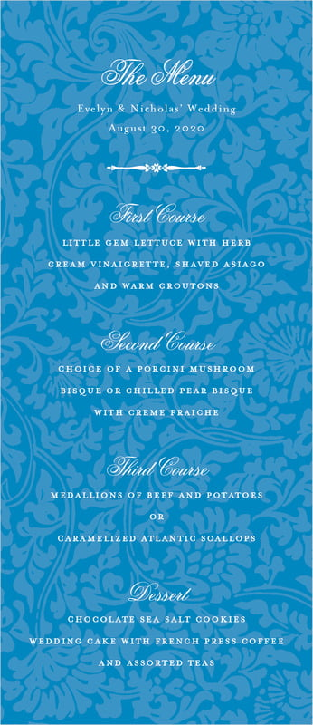 custom menus - blue - magnolia (set of 10)