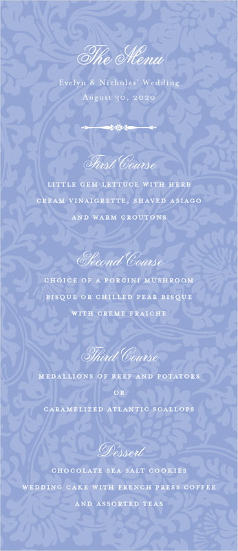 custom menus - periwinkle - magnolia (set of 10)