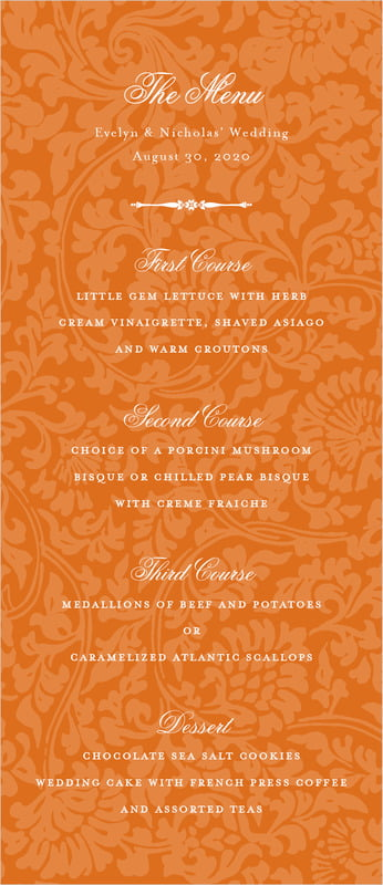 custom menus - spice - magnolia (set of 10)